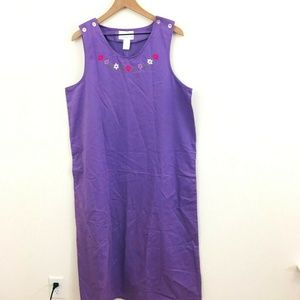 NWT! Susan Graver Embroidered Maxi Dress